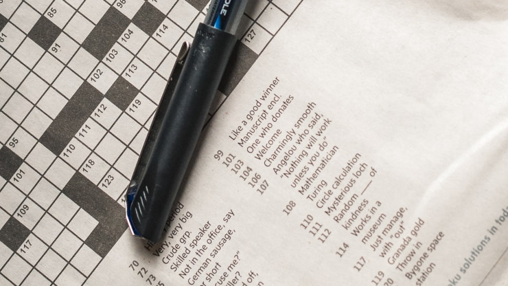 Een dagelijkse kruiswoordpuzzel ter ontspanning